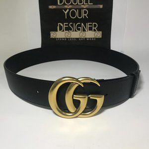 Gucci 1.5 Inch Leather Marmont GG